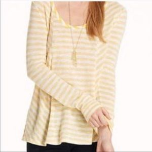 Saturday Sunday | Anthropologie Yellow Stripe Top